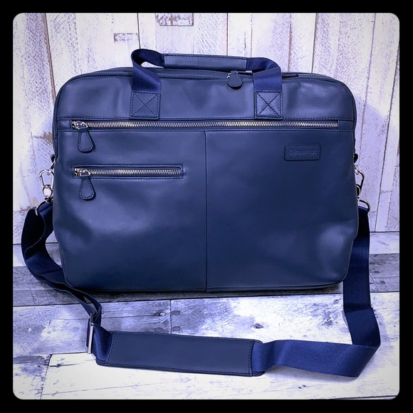 Genius Pack Other - Genius Pack Luxe Leather Laptop Briefcase Bag